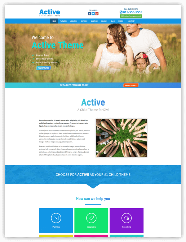 Active divi child theme