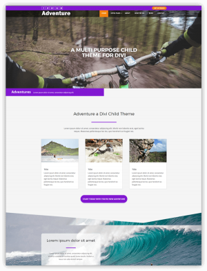 Adventure divi child theme