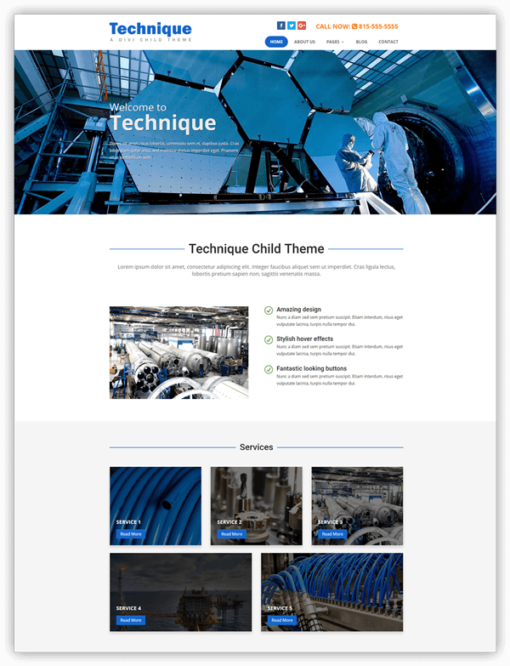 Technique divi child theme