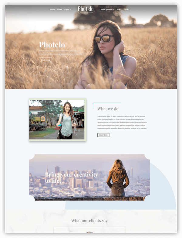 Photelo divi child theme