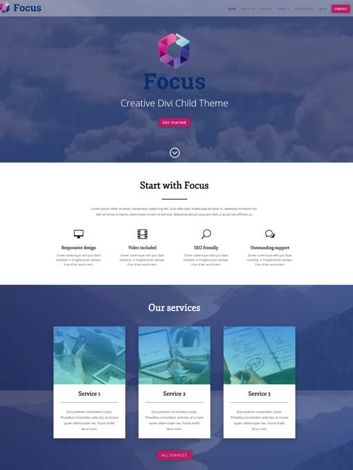 Focus divi child theme