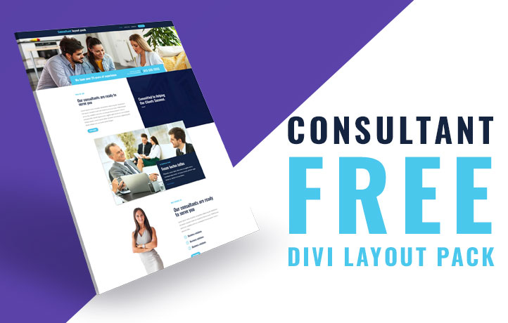 Free Divi layout pack for consultation companies