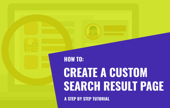 How to create a custom search result page