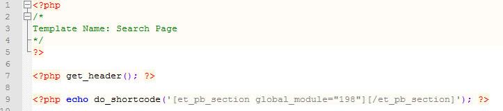 header code example