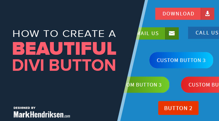 How to create a beautiful Divi button