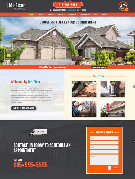 Mr fixer divi child theme