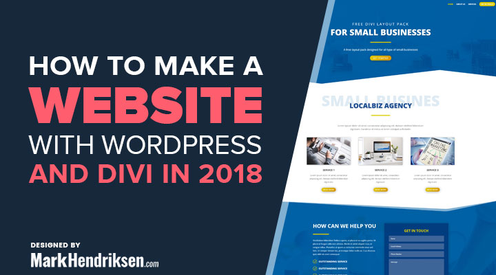 How To Make A Website With WordPress And Divi Theme In 2018