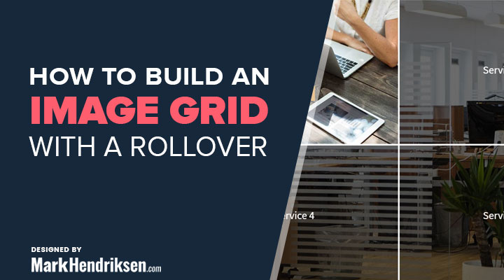 how to build an image grid with a rollover
