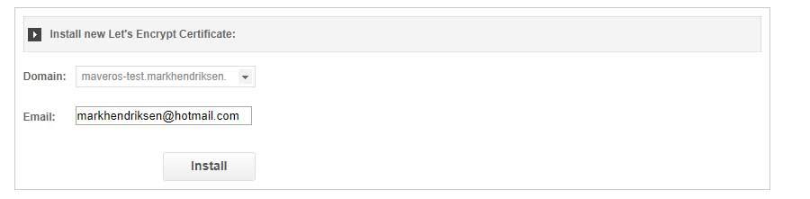 Choose domain name for SSL
