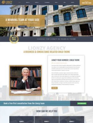 Lionzy divi child theme