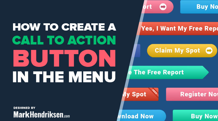 How to create a call to action button in your menu