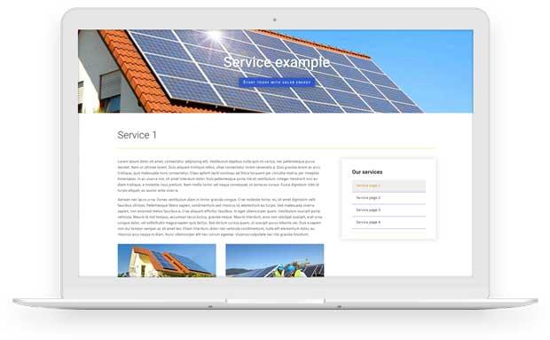 Solar side menu