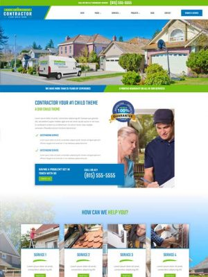 Contractor Divi child theme