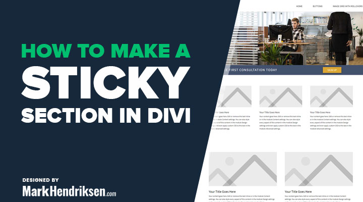 How to make a sticky section in Divi
