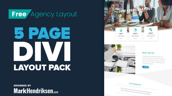 Free Divi layouts for agencies
