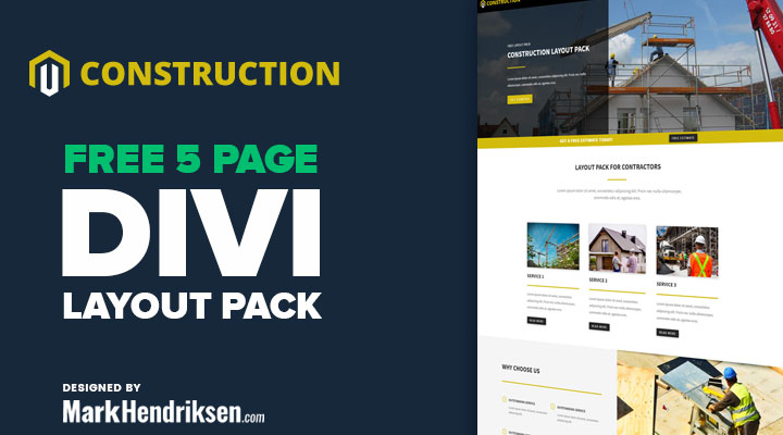 Divi layout for construction