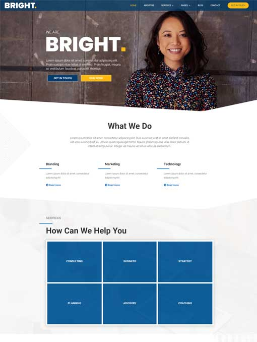 Bright Divi child theme