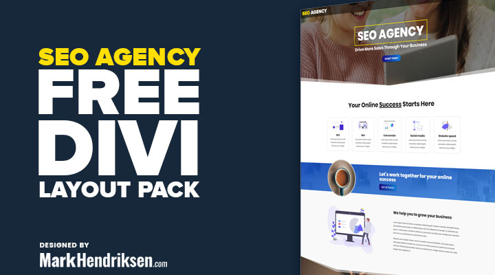 SEO agency free Divi layout pack