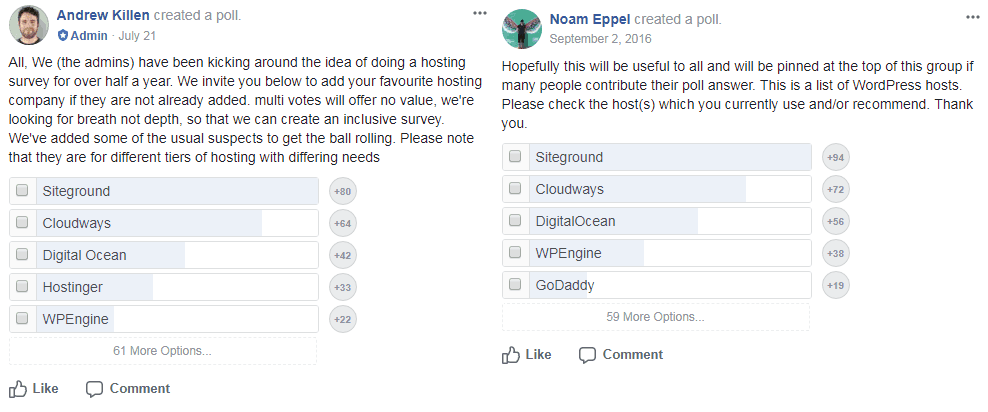 siteground number 1 FB poll