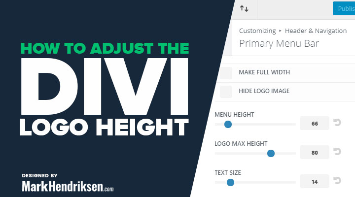 How to adjust the Divi logo height and size