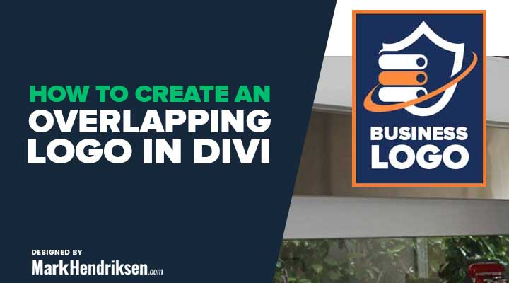 How to create an overlapping logo in divi