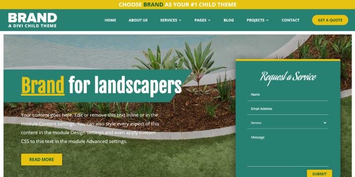 Brand child theme