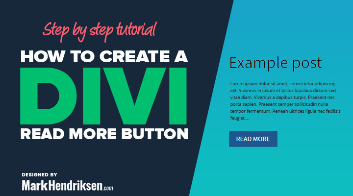 How to create a Divi read more blog button
