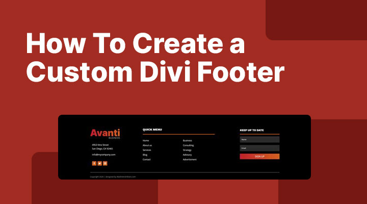 How to create a custom Divi footer