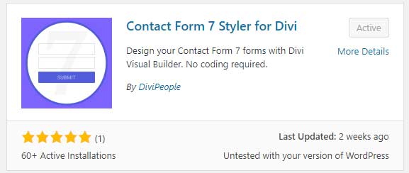 Contact form 7 styler for Divi