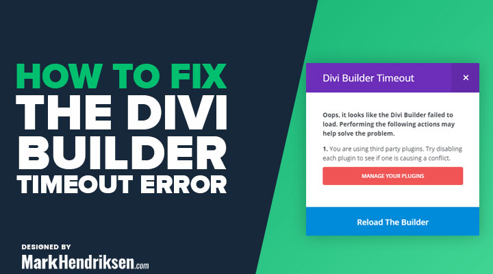 How to Fix the Divi Builder Timeout Error