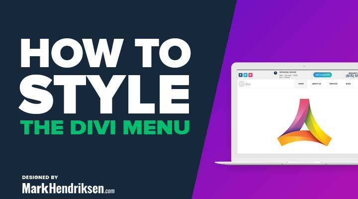 Styling the Divi menu bar