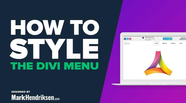 Styling the Divi menu bar