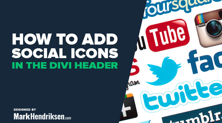 How to ad social icons in the Divi header
