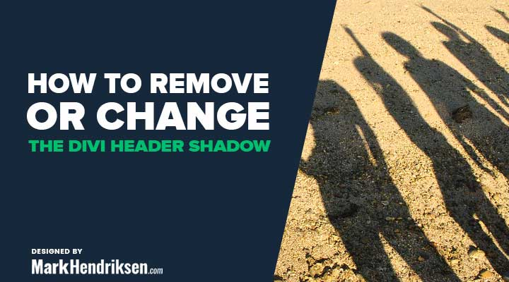 How to remove or change the Divi header shadow