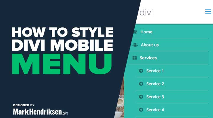 How to Style the Divi Mobile Menu