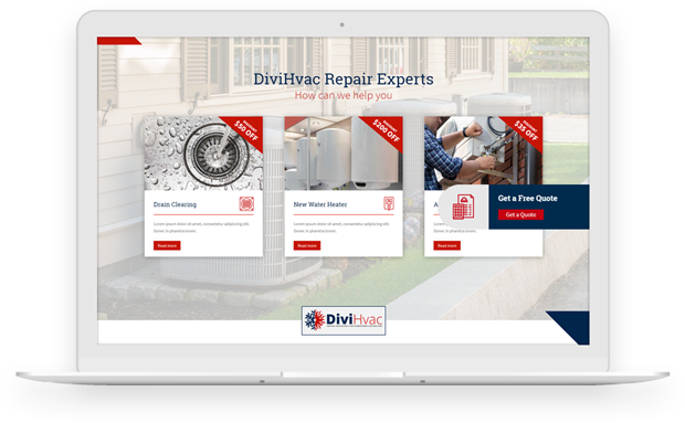 slide-in for Divi Hvac