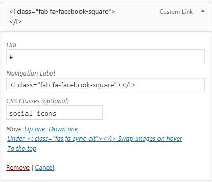 Adding class to social icons