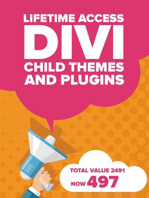 Lifetime access to all Divi child themes and plugins