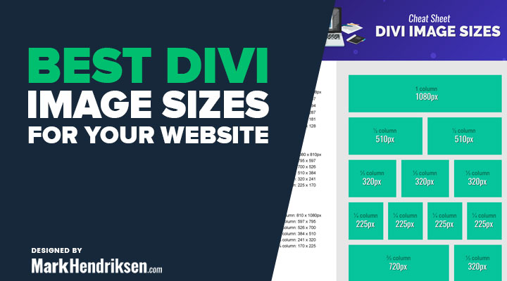 Best Divi Image Sizes Cheat Sheet for Your Website