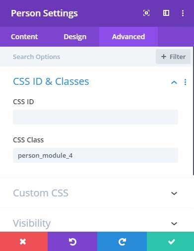 CSS class for layout 4