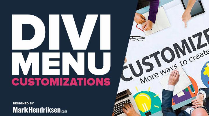 Divi Menu Customization