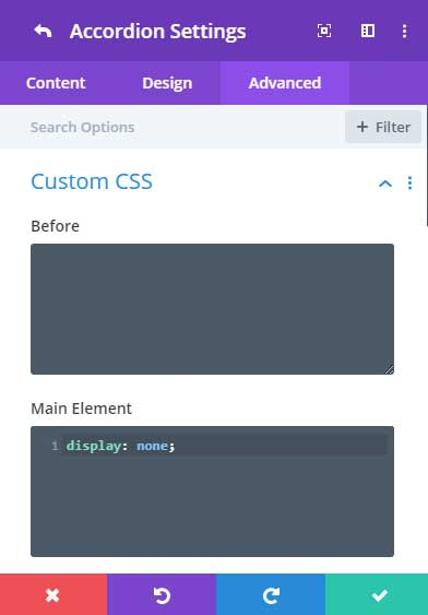 Hide the first accordion toggle with CSS
