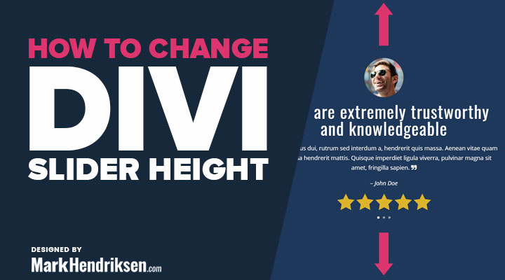 How to Change the Divi Slider Height