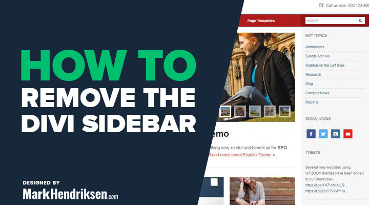How to remove the Divi sidebar