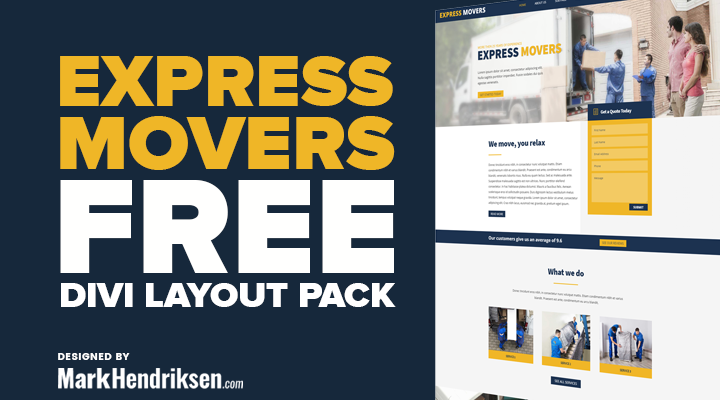 Express Movers a Free Divi Layout Pack