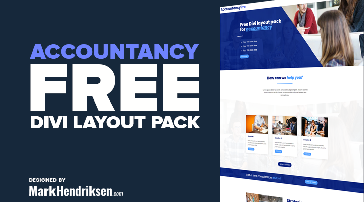 Accountancy Free Divi Layout Pack