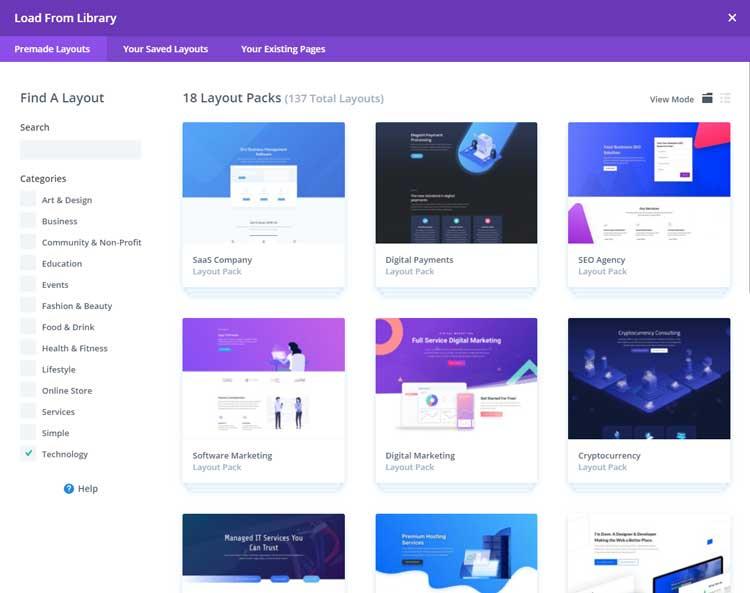 Full website packs