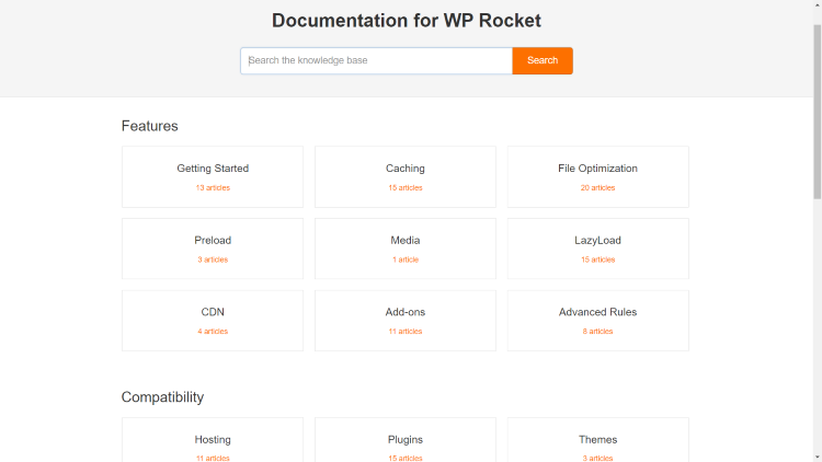 WP Rocket Documentation