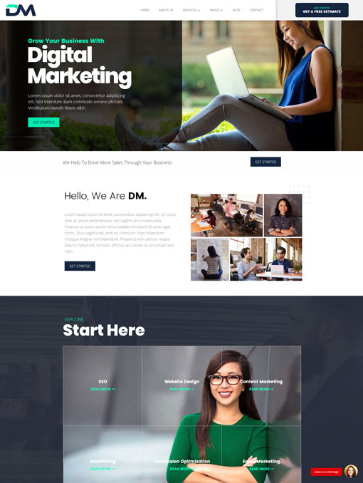 DM Divi child theme