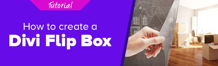 How to Create a Divi Flip Box